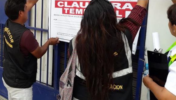 En esta ocasión, dos colegios particulares fueron clausurados por operar de manera ilegal. (Foto: Ministerio Público)