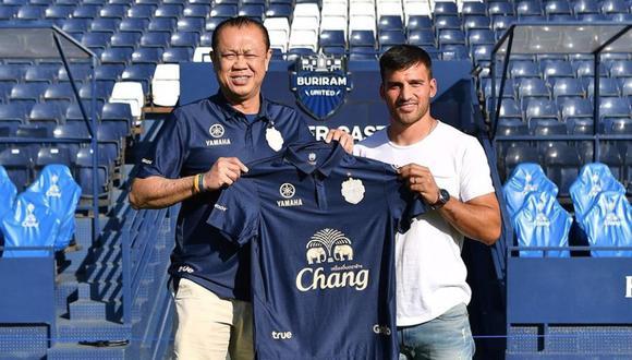 Cuesta afrontará su quinta experiencia internacional en el fútbol tailandés. (Foto: Buriram United)