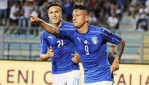 Gianluca Lapadula se quedó en banca en un amistoso de Italia ante Alemania en 2006. (Foto: Agencias)