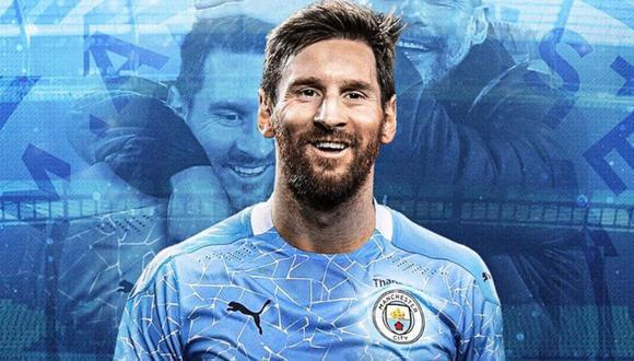 Lionel Messi habría llegado a un acuerdo con el Manchester City por 623 millones de libras, según BBC | Foto: La Nación