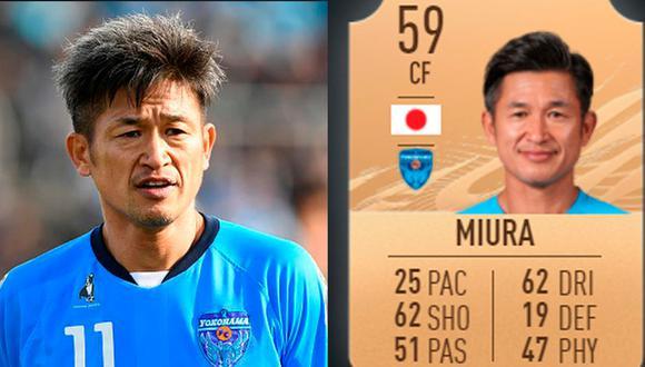 Kazuyoshi Miura debutó en FIFA 21 y tiene una media de 59. (Foto: Getty Images / EA Sports)