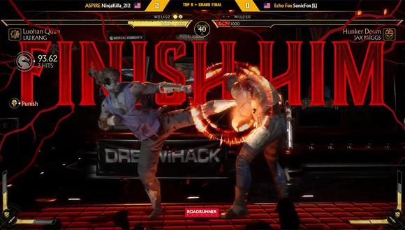 Jarrad 'Ninjakilla_212' Gooden derrotó a Dominique 'SonicFox' McLean, el campeón del mundo de Mortal Kombat. (Captura de pantalla)