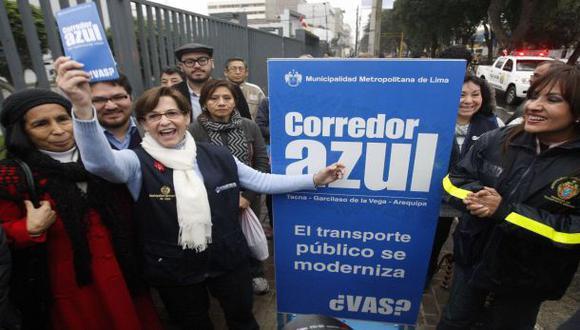 "Villarán sobre corredor azul: ""Es un sacrificio que hacer"""