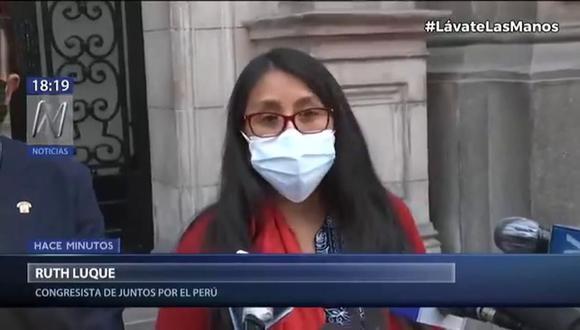 La legisladora de Juntos por el Perú señaló que la iniciativa puede evaluarse siempre que no interfiera con la regulación de los medios privados. (Foto: captura de video)