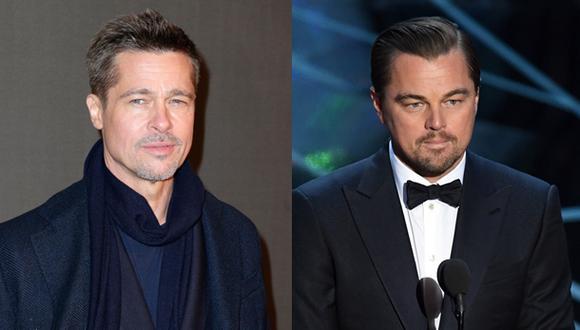 Actores Brad Pitt y Leonardo DiCaprio. (Foto: Agencias)