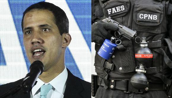 Juan Guaidó denuncia que el FAES (Fuerzas Especiales de la Policía Nacional Bolivariana) está afuera de su casa y preguntan por su esposa. (AFP).