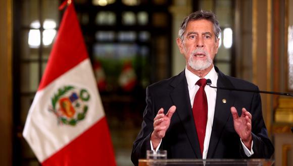 Francisco Sagasti asumió la presidencia hace seis meses, en noviembre del 2020. (Foto: Presidencia)