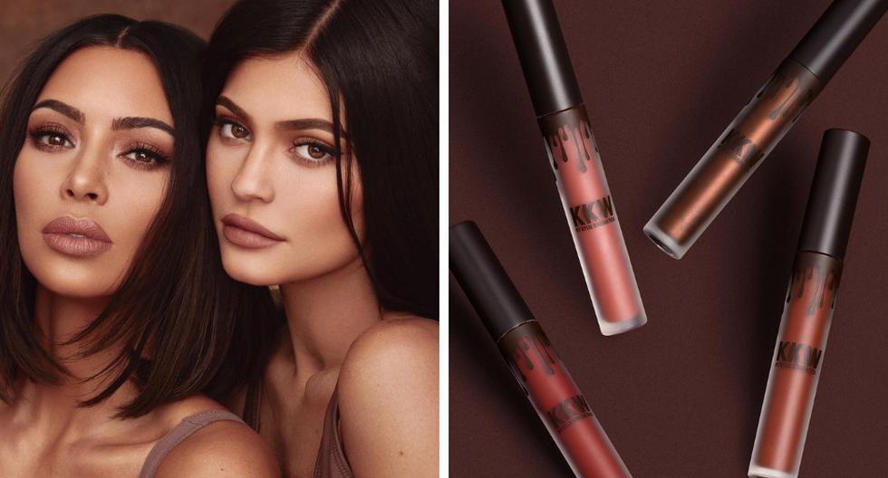Kim Kardashian anunció por todo lo alto su nueva línea de maquillaje junto a su hermana Kylie Jenner. (Fotos: @kimkardashian en Instagram)