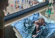 El sorprendente video que muestra a una mujer dando a luz en medio de la explosión en Beirut