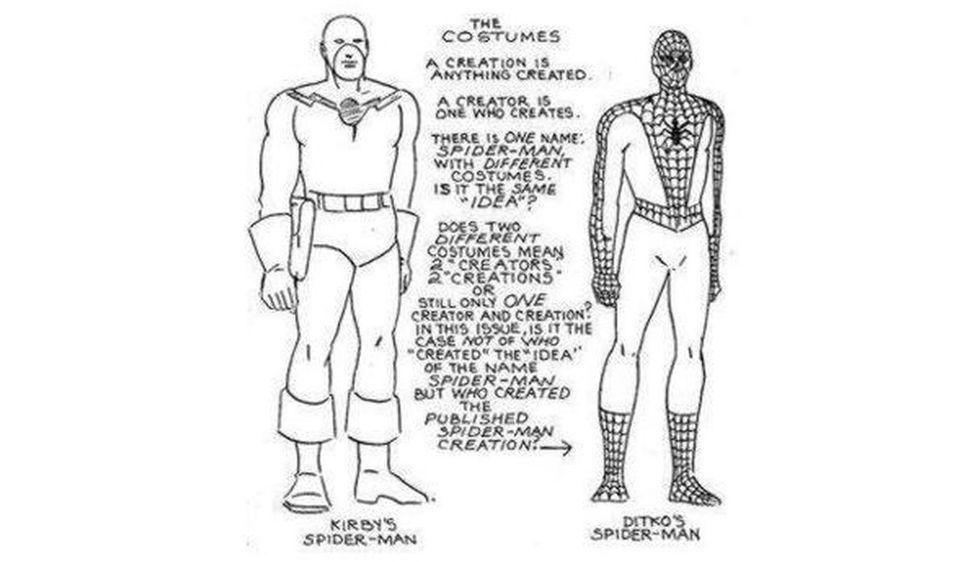 Estos son los bocetos creados por Kirby y Ditko. (Foto: Spiderman.wikia)