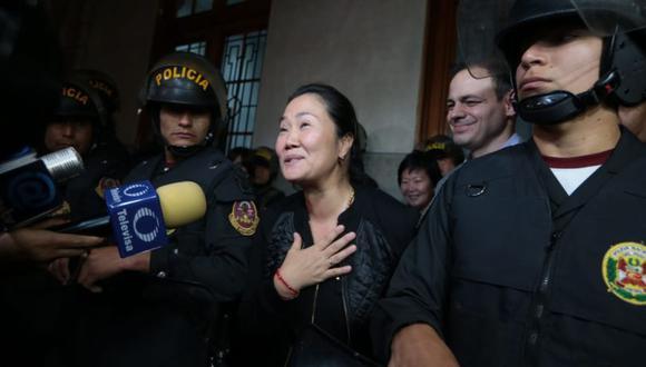 Sala del Poder Judicial anuló este miércoles la detención preliminar por diez días de la lideresa de Fuerza Popular, Keiko Fujimori. (Foto: Hugo Pérez / El Comercio)