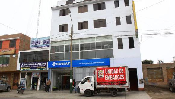 Ventanilla embargaría local ocupado por la Sunat por deudas