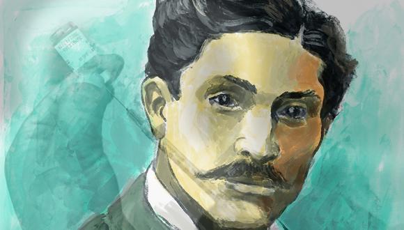 Daniel Alcides Carrión (1857-1885), mártir de la medicina peruana y héroe nacional desde 1991 por la ley N° 25342. Ilustración: El Comercio. Foto: ERNESTO BENAVIDES para AFP.