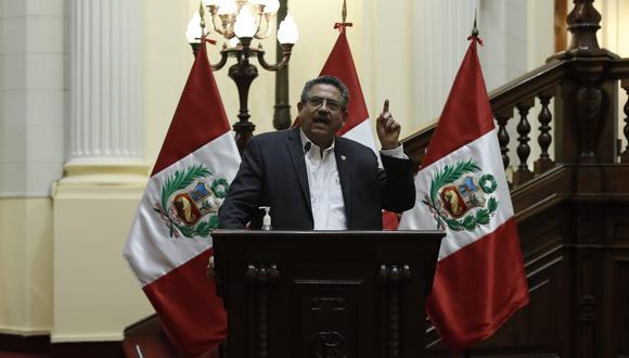 El presidente del Congreso, Manuel Merino, le respondió al primer ministro, Walter Martos. (Foto: Cesar Campos / @photo.gec)