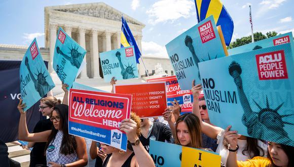 Corte Suprema Estados Unidos respalda prohibición de viajes de Trump contra refugiados de seis países. (EFE).