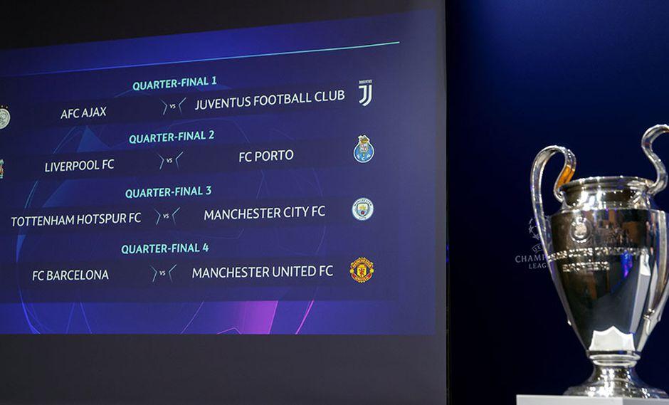 Champions League y la programación de los partidos de ida y vuelta de cuartos de final. (Foto: AP)