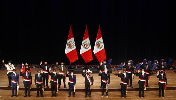 Gremios cuestionan al Gabinete Ministerial de Guido Bellido. (Foto: Presidencia)