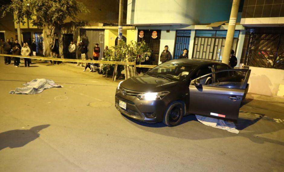 El doble crimen ocurrió en el cruce de las calles Margarita y Pisco, en la urbanización Kama. (ATV+/GEC)
