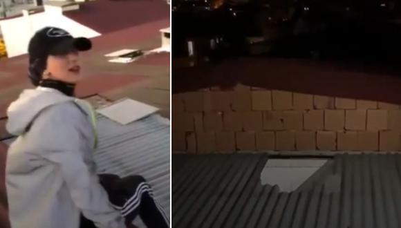 TikToker fallece mientras grababa un video en la azotea de un edificio. (Foto: @gunun_videosu / Twitter)