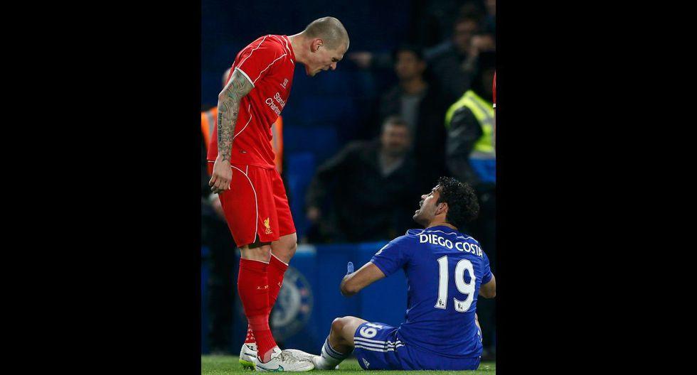 Diego Costa desató la furia de los jugadores del Liverpool - 10