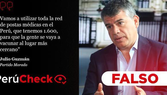 PerúCheck. La afirmación del candidato presidente del Partido Morado fue sometida a fact checking