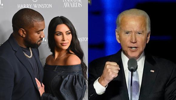 Kim Kardashian celebró la victoria de Joe Biden ante Kanye West en su camino a la Casa Blanca. (Foto: AFP/Angela Weiss/Andrew Harnik)