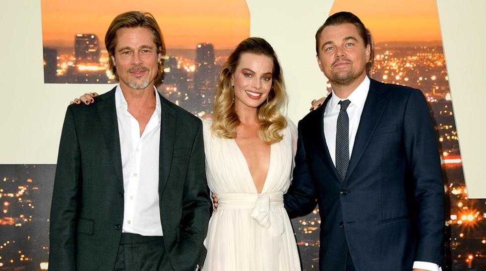 """Once Upon a Time in Hollywood"". Premiere 2019. Brad Pitt, Margot Robbie y Leonardo DiCarpio. (Foto: Agencia)"