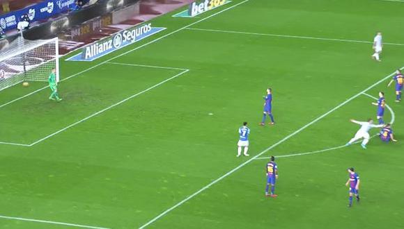 Willian José había encontrado el 2-0 parcial contra el Barcelona en Anoeta; sin embargo, el juez del encuentro decidió invalidar el tanto por una falta anterior. (Foto: captura de video)