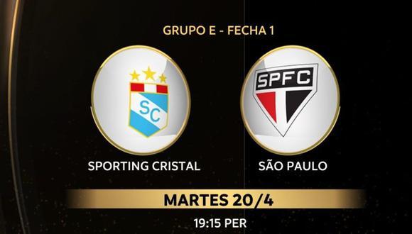 Sporting Cristal vs Sao Paulo chocan este martes a las 19.30 horas de Perú por la Copa Libertadores 2021. (Foto: Conmebol)
