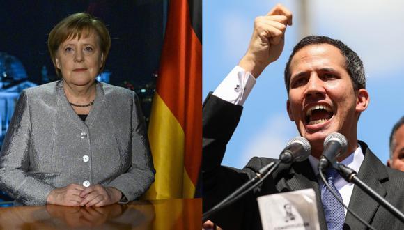 Steffen Seibert dijo que la canciller alemana, Angela Merkel, habló ayer de la situación de Venezuela con el presidente del Gobierno español, Pedro Sánchez. (Foto Composición: AP / EFE)