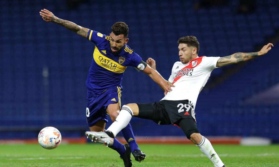 Boca y River se enfrentaron en cuartos de final de la Copa de la Liga | Foto: EFE