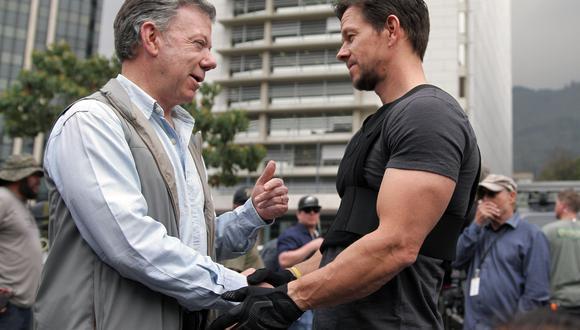 Mark Wahlberg llega a filmar a Colombia y es visitado por presidente Juan Manuel Santos. (Foto: AFP)