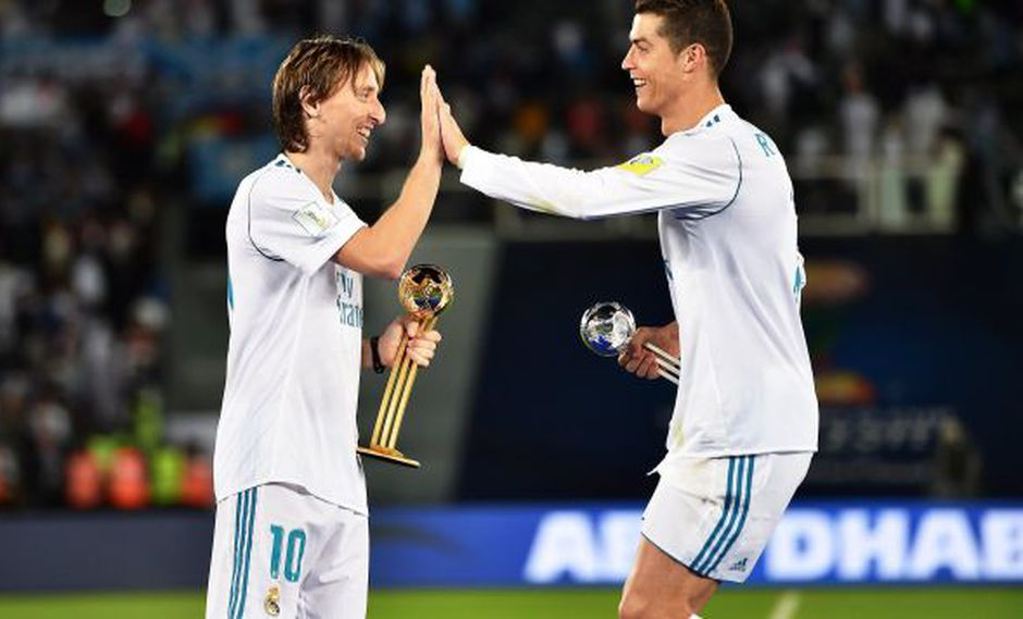 Luka Modric y Criastiano Ronaldo. (Foto: EFE)