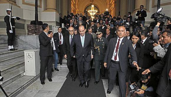 El primer ministro y la mayoría de su Gabinete acudieron al pleno. Su exposición duró menos de 10 minutos. (Foto: Alessandro Currarino/El Comercio)