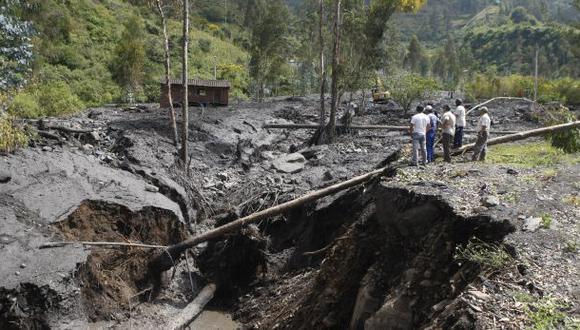 Deslizamiento en Huánuco sepultó a una familia
