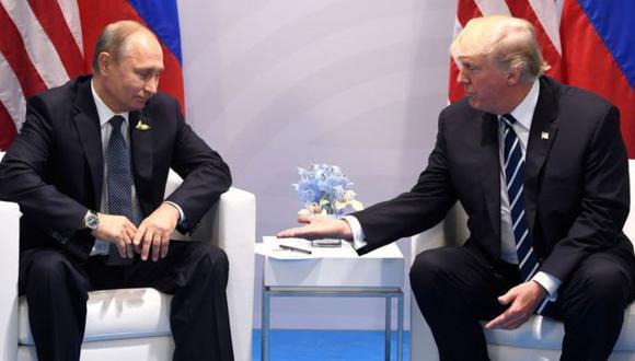 Vladimir Putin y Donald Trump sostuvieron un diálogo sobre Venezuela, informó la Casa Blanca. Foto: GETTY IMAGES, vía BBC Mundo