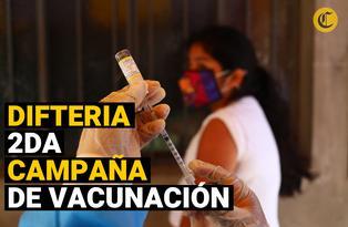 Segunda campaña de vacunación nacional contra la difteria este 7 y 8 de noviembre