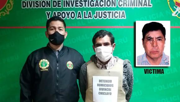 """Lambayeque. Agentes de la Divincri Chiclayo detuvieron a Candelario Heredia Jara (50) """"Negro Candela"""", quien es acusado de asesinar a cuchilladas al bodeguero Alberto Vidaurre Quiroz (52)  el pasado 17 de junio del 2018."""