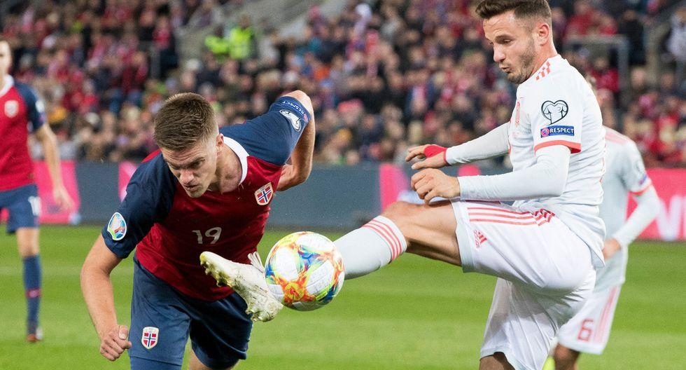 España vs. Noruega. (Foto: AP)