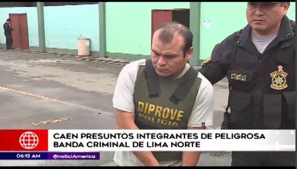Desarticulan banda de Lima Norte. (Foto: América TV)