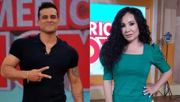 """Christian Domínguez se refirió al intercambio de palabras que tuvo con Janet Barboza en """"América Hoy"""". (Foto: América Hoy)"""