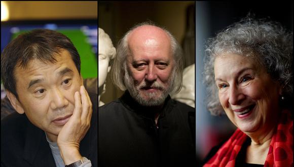 Haruki Murakami, László Krasznahorkai, y Margaret Atwood son algunos de los autores voceados para ganar el Premio Nobel de Literatura. (Foto: Agencias)