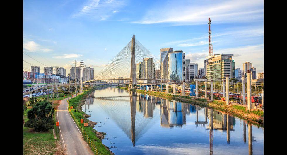 En octavo lugar se encuentra Sao Paulo (Brasil). La duración promedio de la estadía, al 2017, fue de 10.8 días; mientras que el gasto promedio diario ascendió a US$61. La mayor cantidad de visitantes llegan de Argentina, Estados Unidos y Chile.