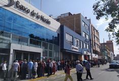 Tacna: largas colas en sucursales del Banco de la Nación por paro de trabajadores