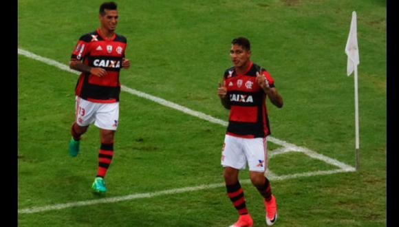 Con gol de Guerrero, Flamengo venció 2-1 a Paranaense en Copa