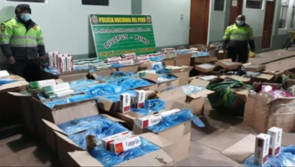 Puno: extranjero conducía camión cargado con contrabando valorizado en 250 mil soles (Foto: PNP)