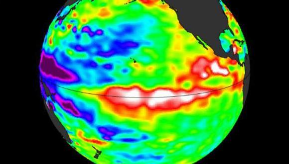 Cuando El Niño está activo el agua del océano en la zona ecuatorial está más caliente.