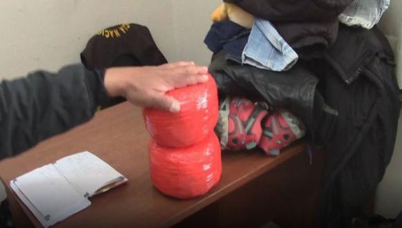 Detienen a pareja con 5 kilos de PBC en Cusco
