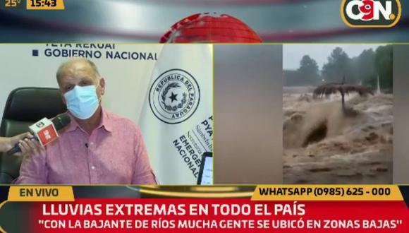 """Debido a las lluvias, el Ministerio de Obras Públicas y Comunicaciones (MOPC) declaró """"emergencia vial"""" en rutas y avenidas del departamento Central, la zona metropolitana de Asunción. (Foto: captura YouTube)"""