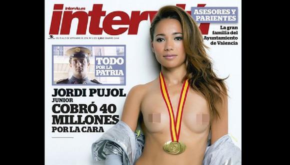 Campeona española se desnudó en revista para generar recursos